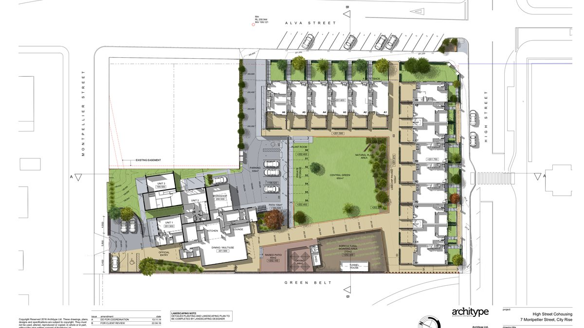 1402 Site Plan Coloured